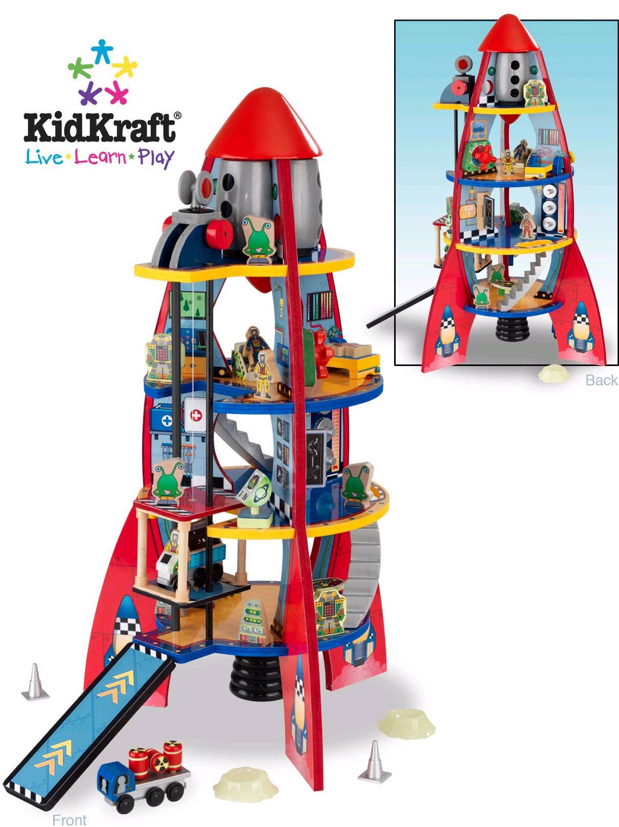 Boys Rocket Space Ship KidKraft Wooden Toys Direct Pinned