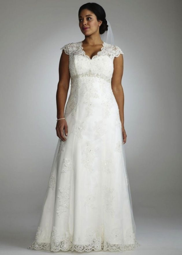 Top 10 plus size wedding dress designers by pretty pear for Plus size wedding dress designers
