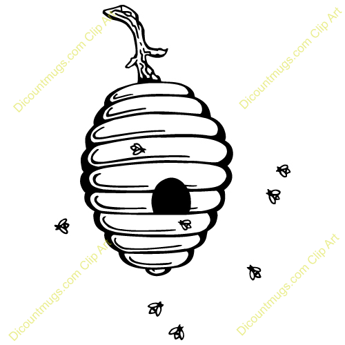 Hanging beehive clipar...