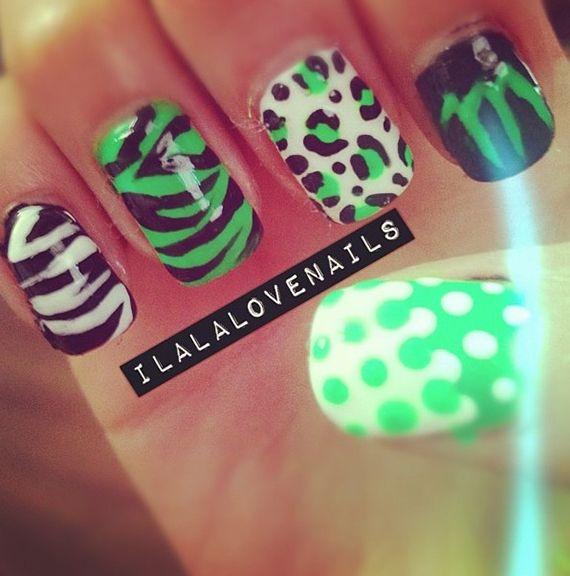 Fotos de uñas color verde #green #nails #uñas #verde | Green Nails ...