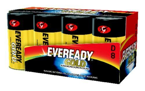 Eveready Alkaline Battery 8 Pack D Cell By Eveready 17 47 Eveready Gold Alkaline Batteries D Size 8 Piece Fam Wedding Pets Energizer Household Batteries