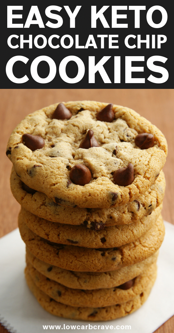 Sugar-Free Keto Chocolate Chip Cookies Recipe - These healthy homemade low carb cookies are the perfect treat for an afternoon snack or dessert. These delicious cookies are chewy, crispy and buttery. Made with almond flour and all the right ingredients.