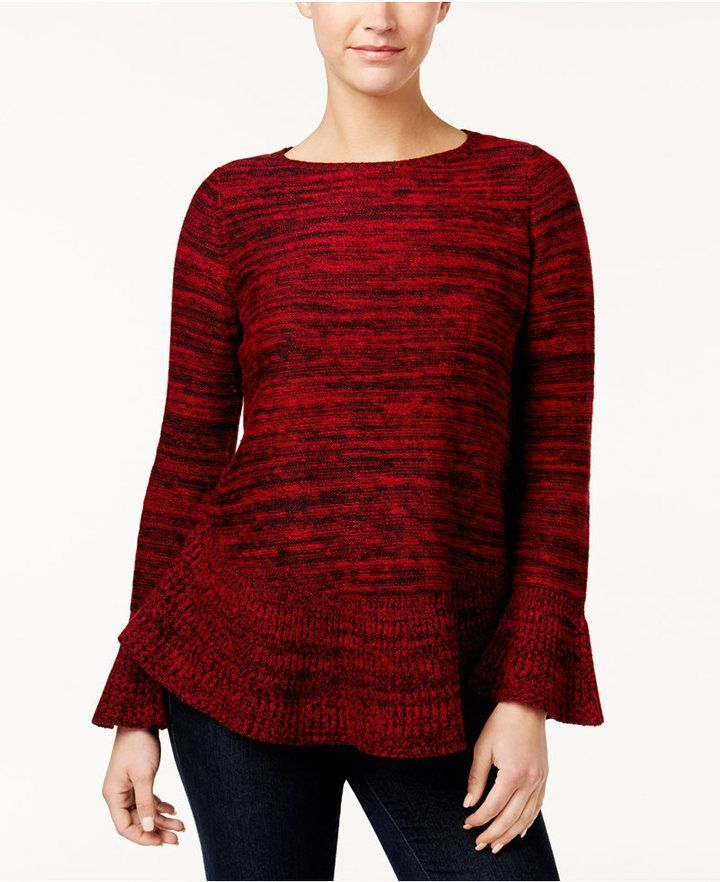 Style&Co. Style & Co Petite Ruffled Sweater, Created for Macy's
