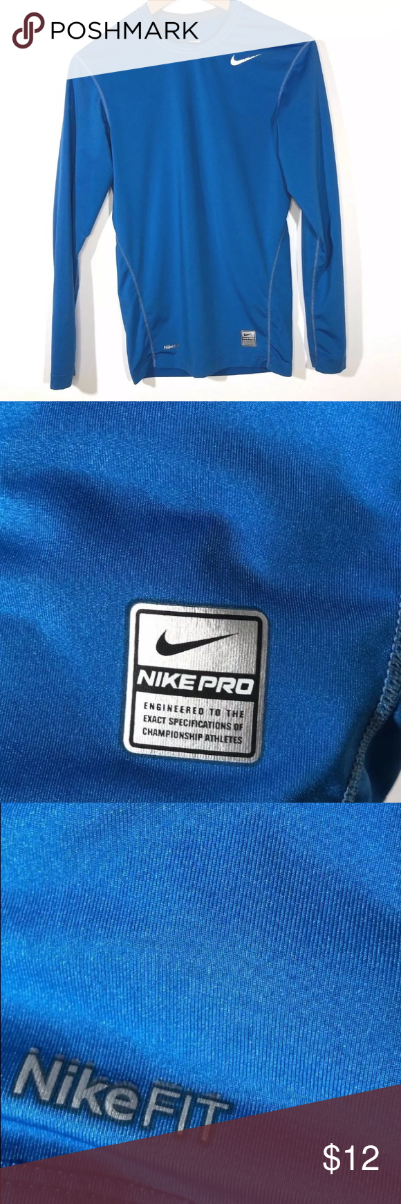 40592fd1 Nike Fit Pro Boys Small Long Sleeve Training Shirt Nike Fit Pro Boys Size  Small Long