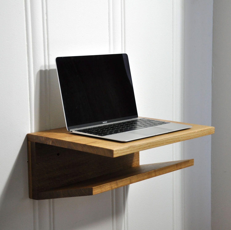 Modern Hardwood Wall Shelf Handmade From Oak Hangs Easily On A French Cleat Hang At Any Height For Use As A Standing D Schreibtisch Eiche Eiche Schreibtisch