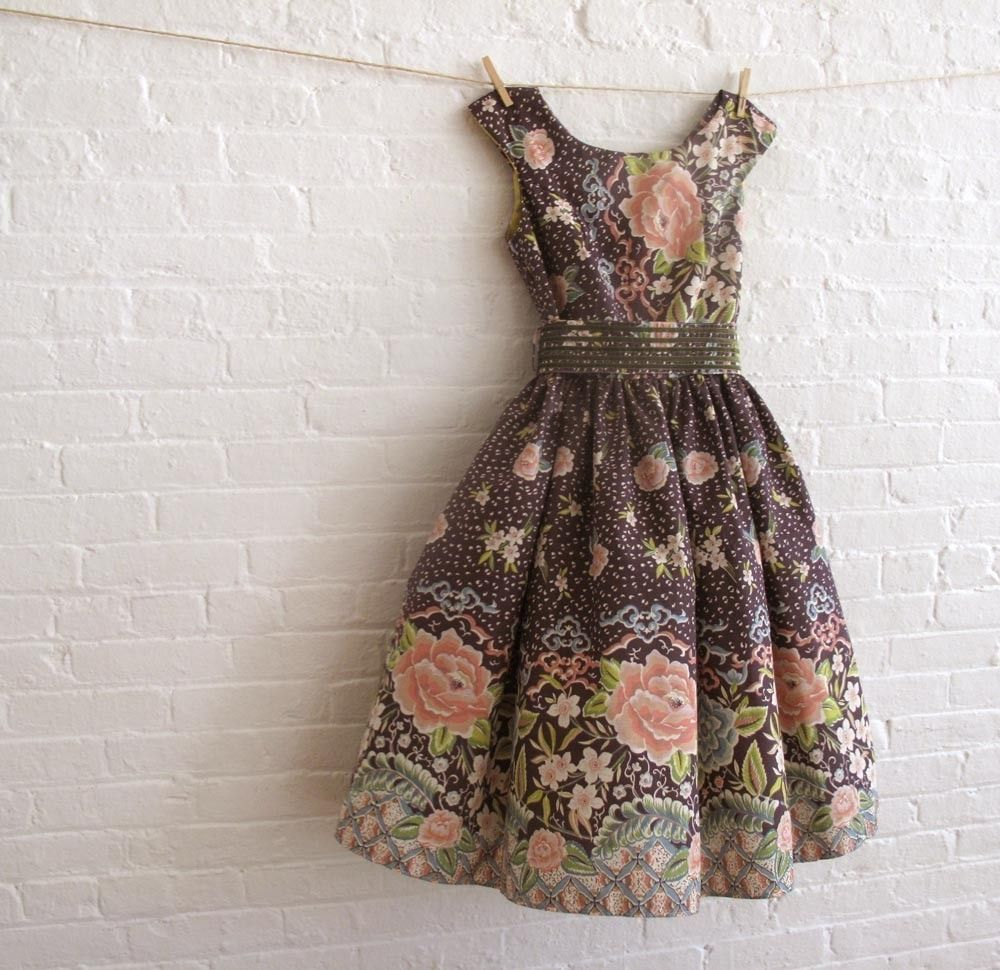 My fifties inspired tea dress custom made i can make one from each