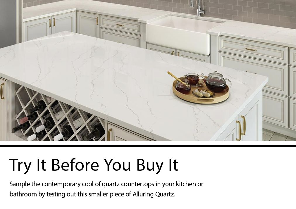 Allen Roth Alluring Quartz Kitchen Countertop Sample Lowes Com
