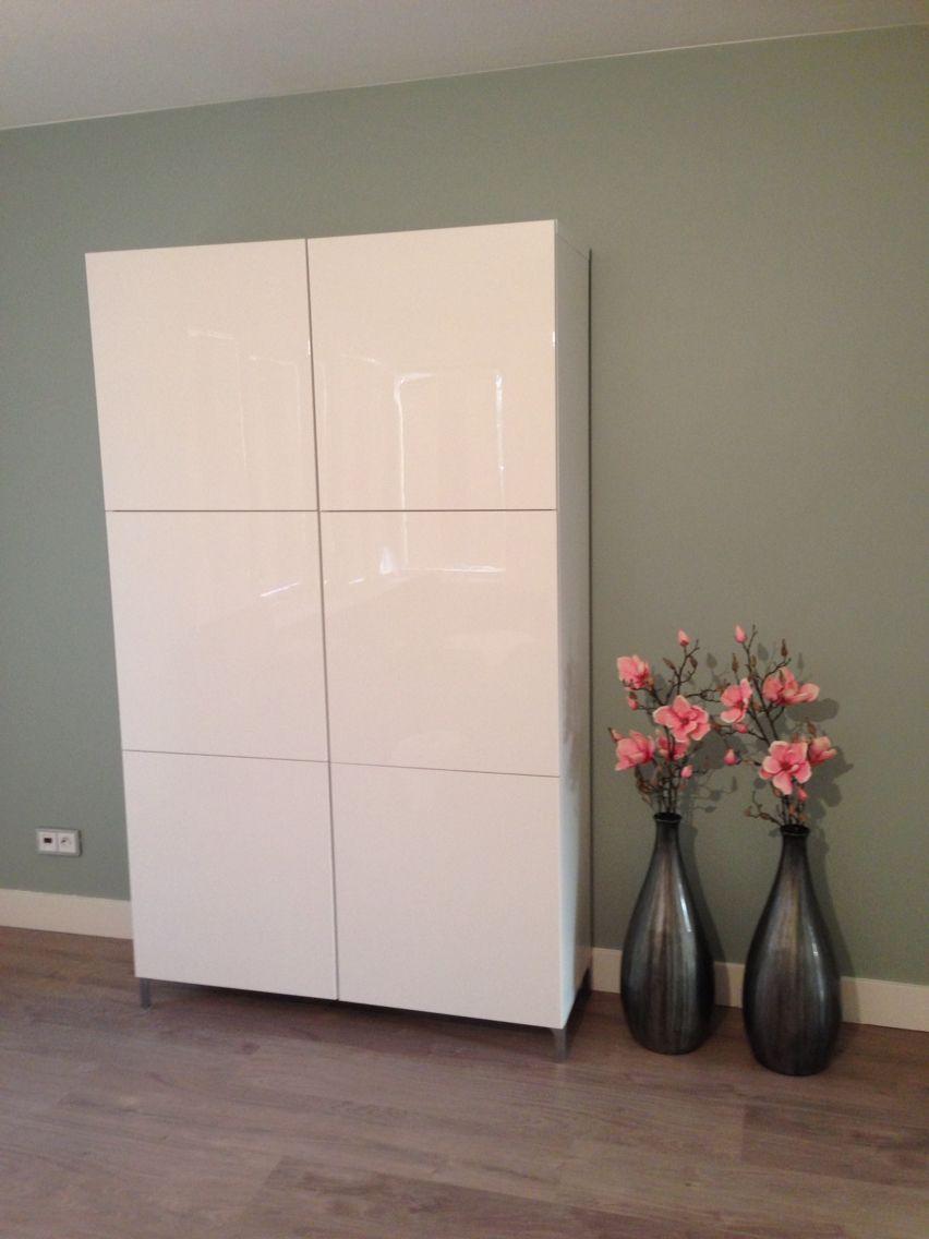 Ikea Kast Besta Muur Early Dew Livingroom In 2019