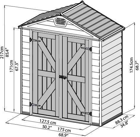 Palram 6x3 Plastic Shed Kit W Skylight Roof Amp Floor