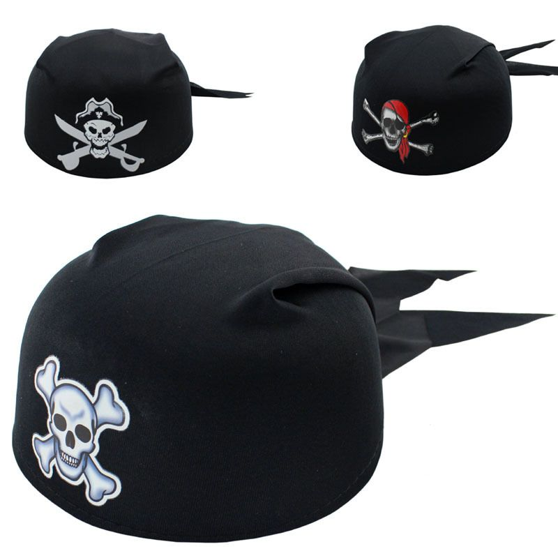 5pcs New Halloween Party Supplies Pirate Captain Hat Skull Pirate