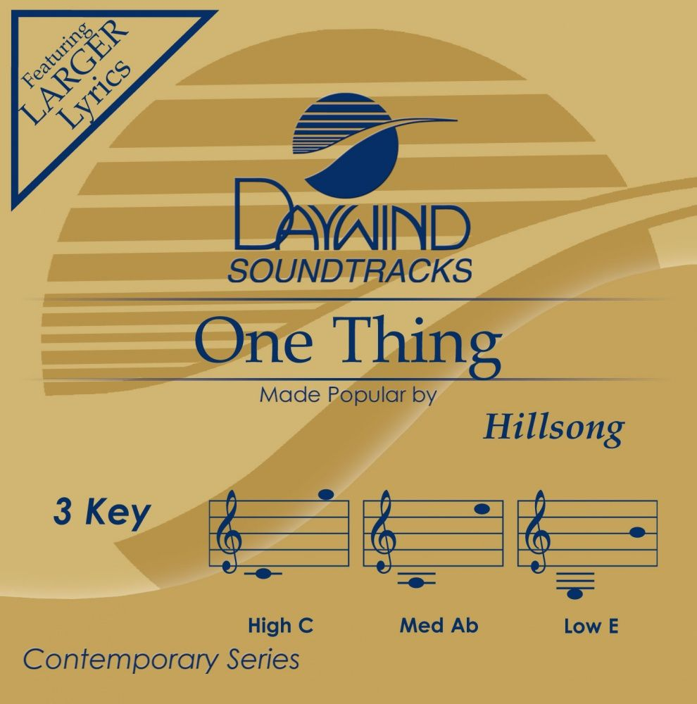 One Thing - Hillsong (Christian Accompaniment Tracks - daywind.com) | daywind.com