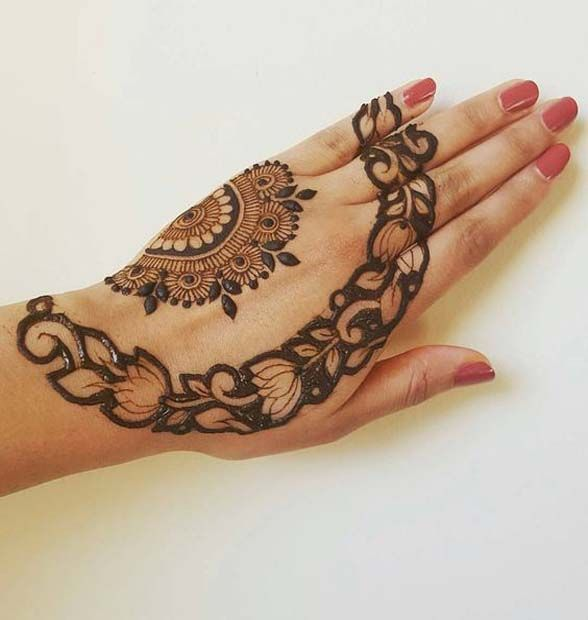 13 Unique Henna Designs Doing The Rounds This Wessing: Henna, Unique Henna, Mehndi