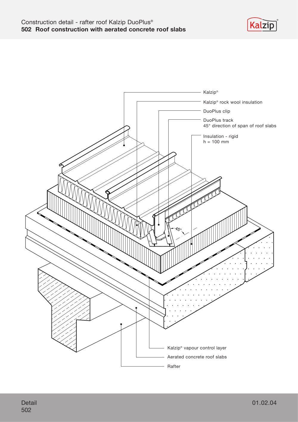 Kalzip Construction Details Archiexpo Roof Construction Construction Slab Insulation
