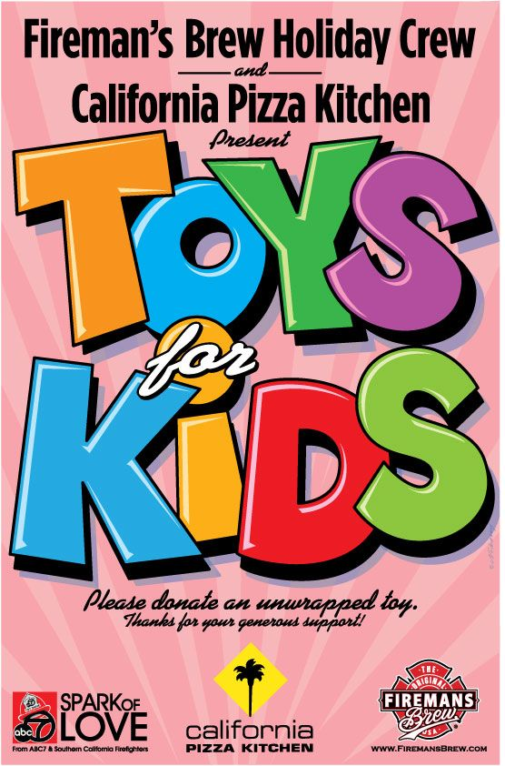 Bring in your new unwrapped donation toy to @California Pizza ...