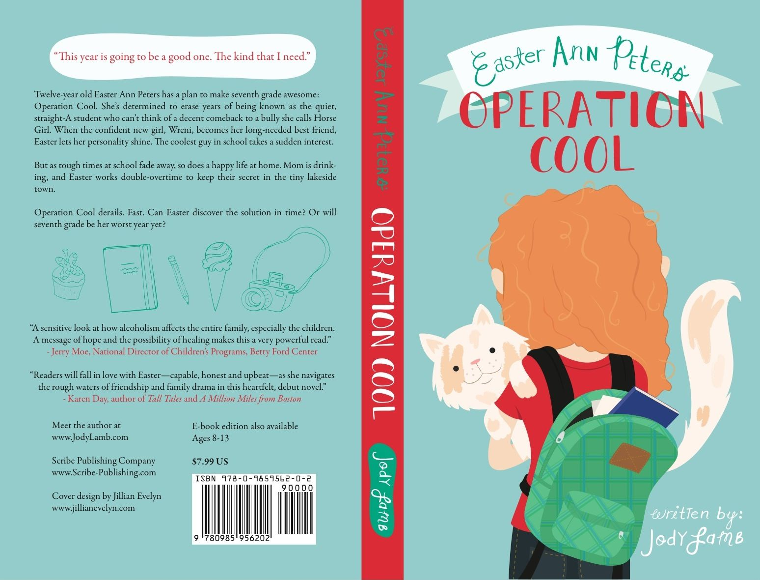 Book Cover Design Back : Operation cool cover spine and back low res