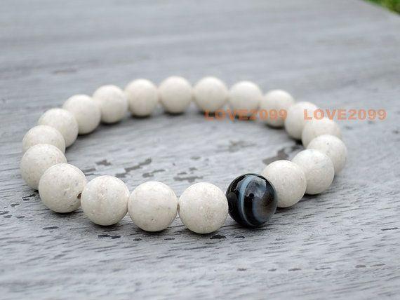 River stone bracelet eye agate bracelet Healing stones by Love2099