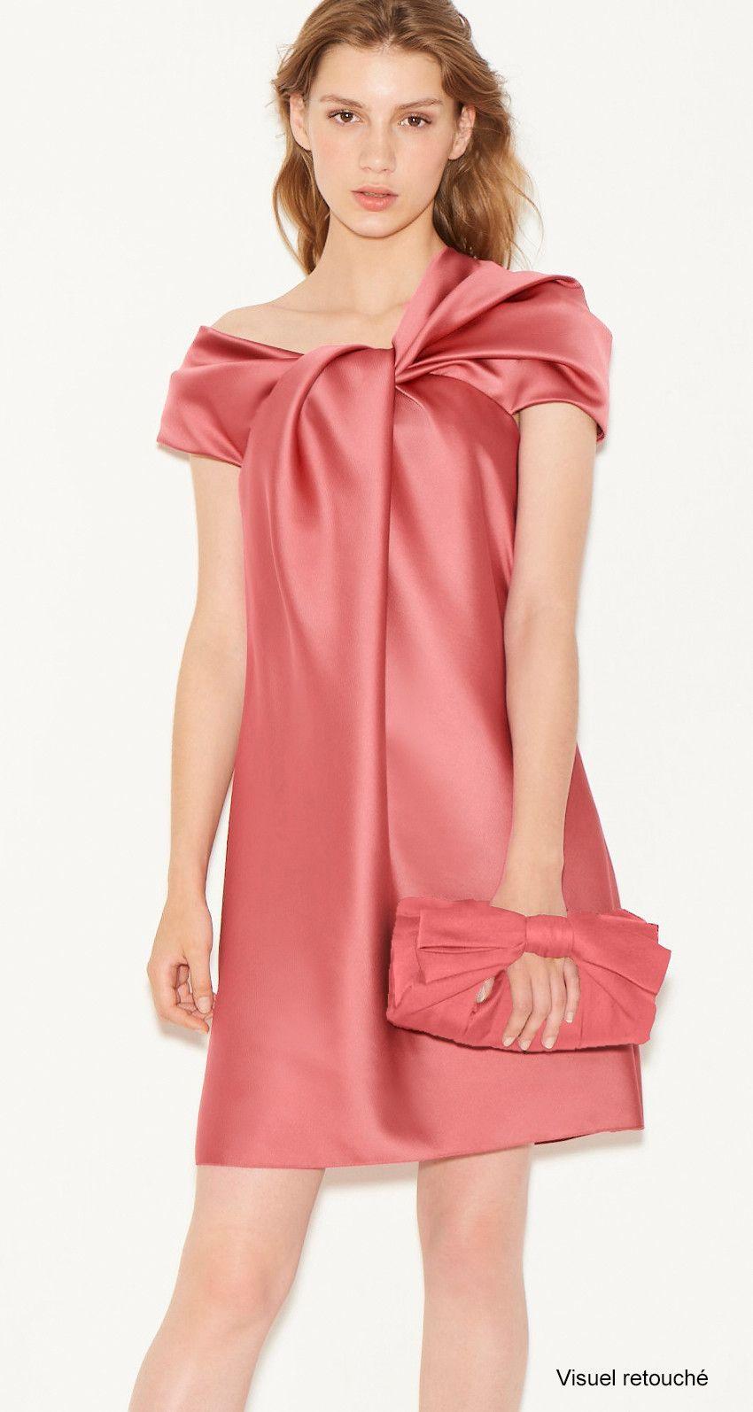 Robe Asymétrique En Coton Et En Satin à Carreaux - BlancClu Qualité Supérieure À Vendre Sortie Ebay EouGjVLlpp