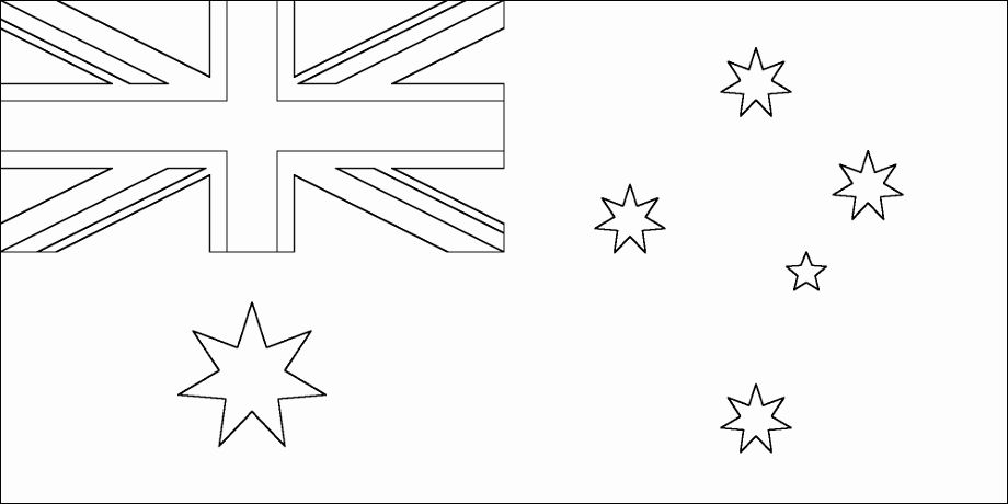 Printable Flag Of Australia Coloring Page Printable Coloring