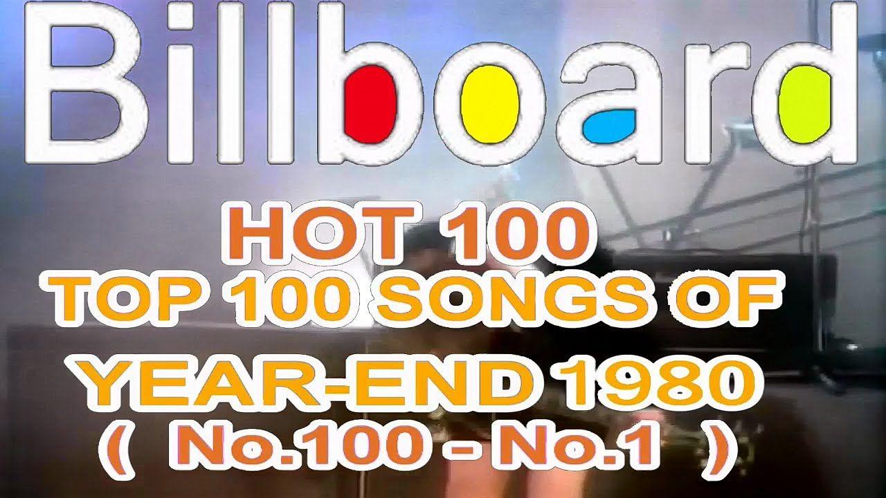 Billboard Hot 100 Year End Top 100 Singles Of 1980 Top 100 Songs Billboard Hot 100 1980s Music