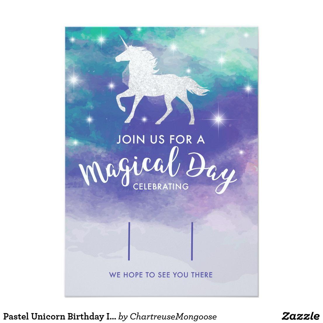 create your own invitation  zazzle  unicorn