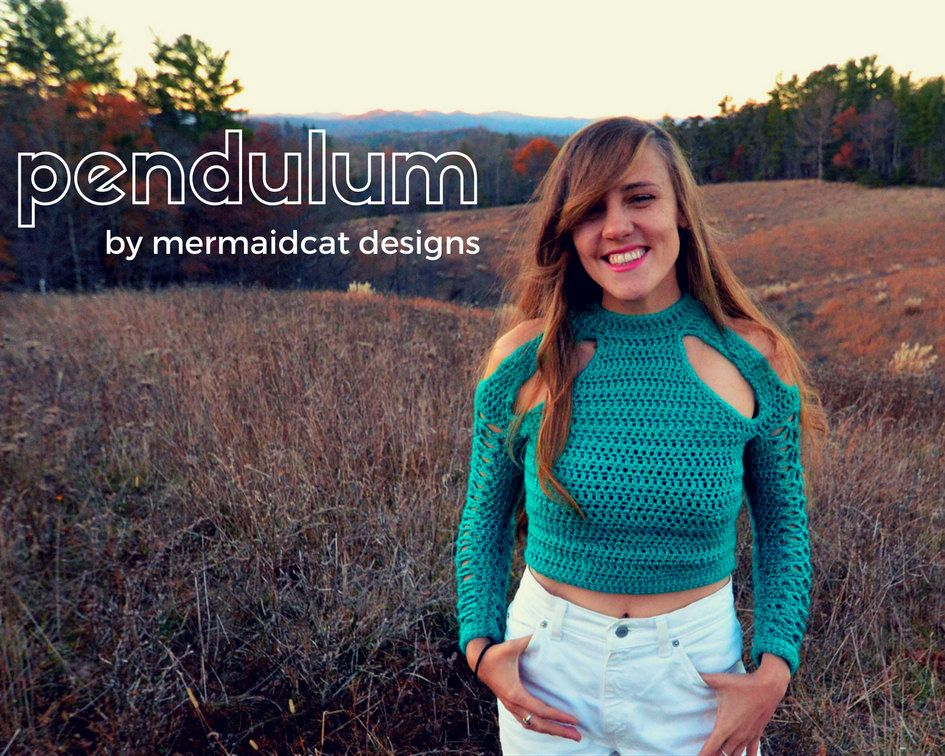 Crochet Sweater Pattern Cold Shoulder Cut Out Pendulum Crochet