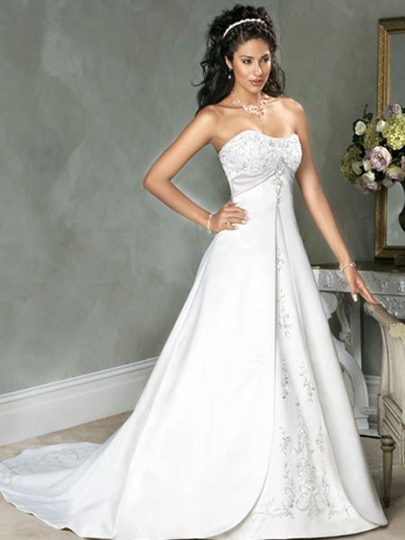 most gorgeous empire wedding dresses