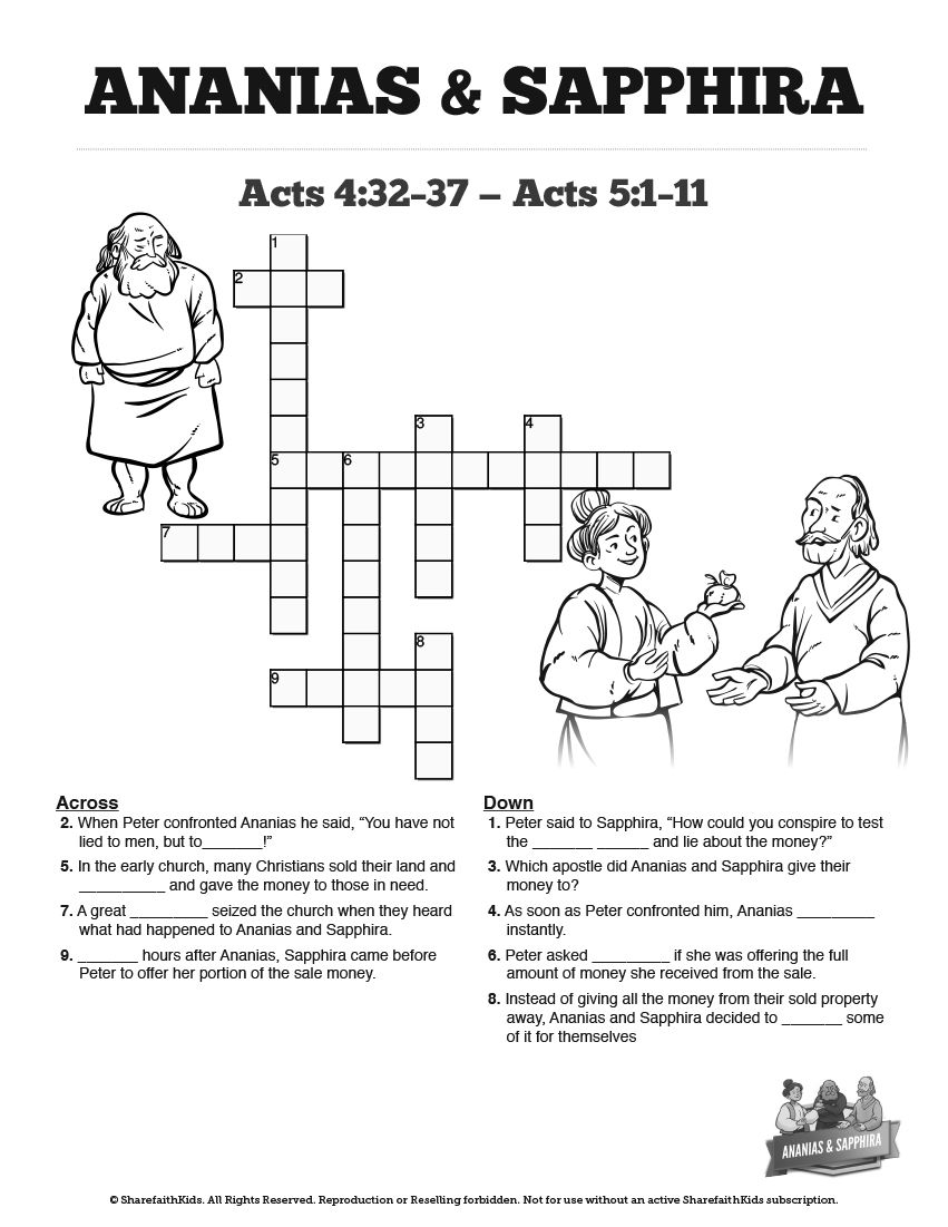ananias and sapphira coloring pages-#9