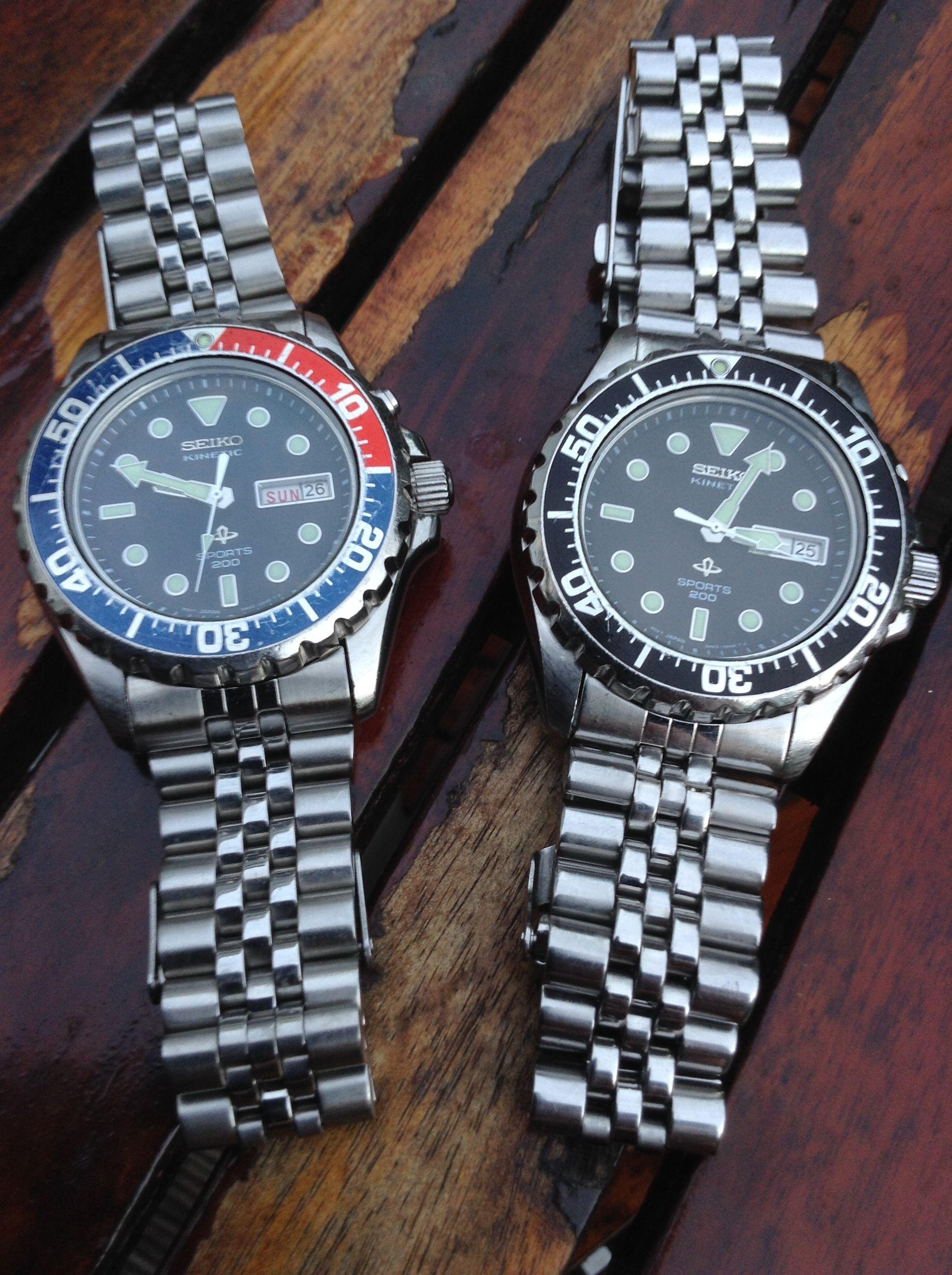 Seiko Sports 5M43 Pepsi SKJ003 and SKJ001 Seiko
