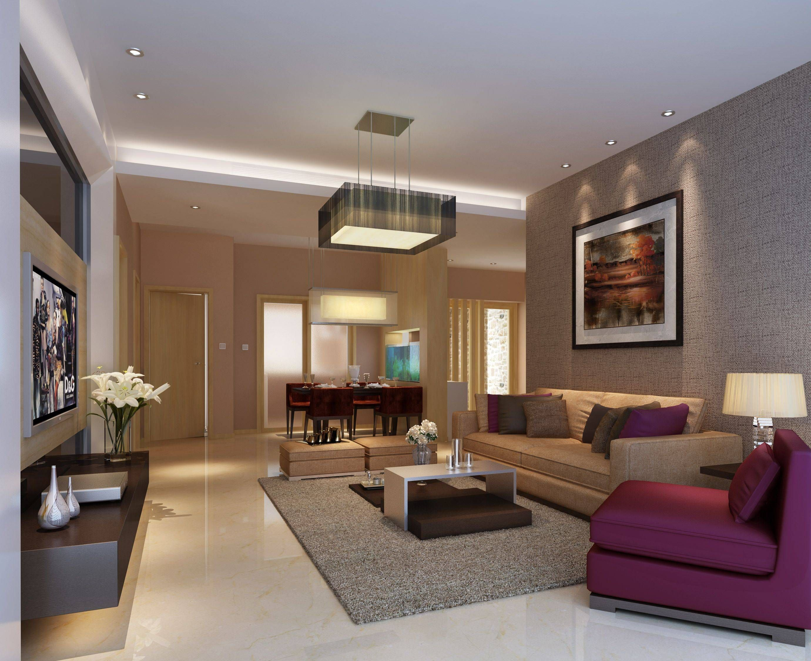 Living Room Ceiling Designs in 2020   Modern casual living ... on Fireplace Casual Living id=54942