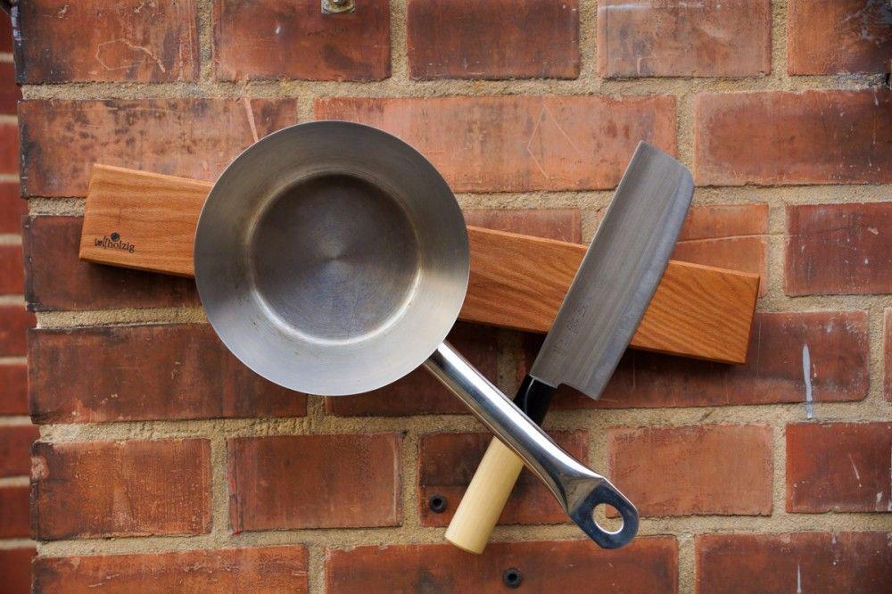 Magnetische Holz-Messerleiste aus Platane