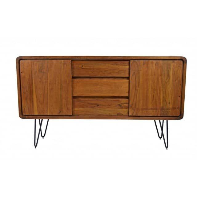 Retro Sideboard Authentic Easy Living Massivholz - Freudenhaus - kommode für küche