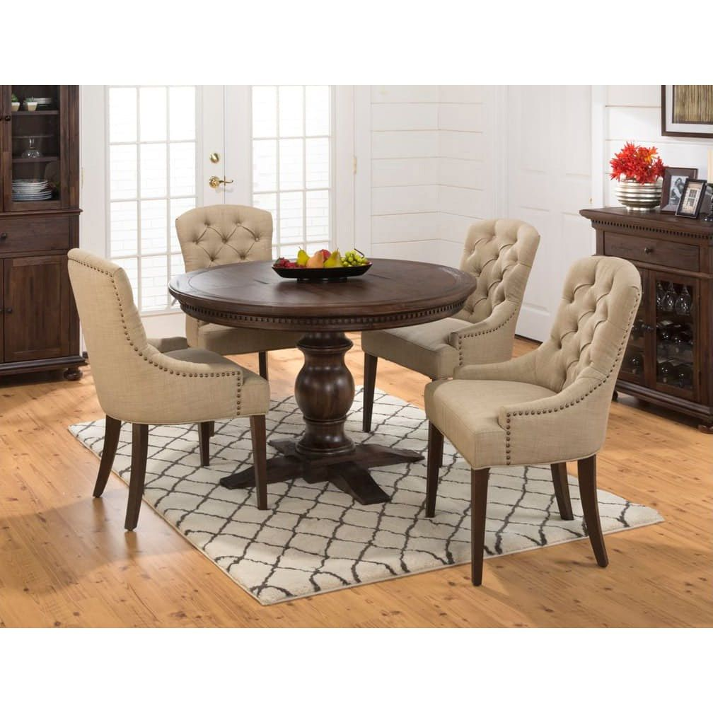 Jofran 678 60t 678 60b Geneva Hills Wire Brushed Dining Table With