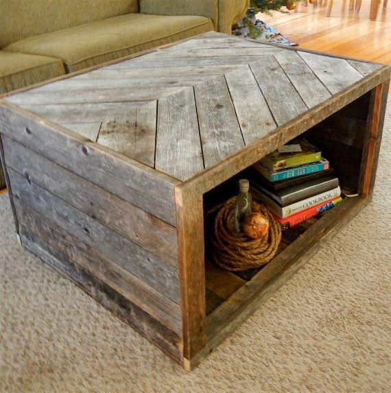 Pallet Coffee Table With Hidden Storage: Table De Salon En Bois De Palette.