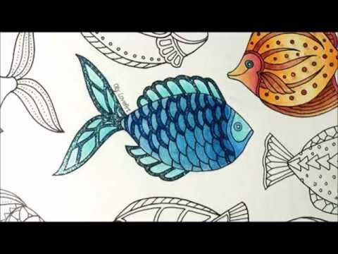 How To Color A Fish Part 3 4 5 6 7 8 9 Lost Ocean Coloring Book Lost Ocean Johanna Basford Coloring Book