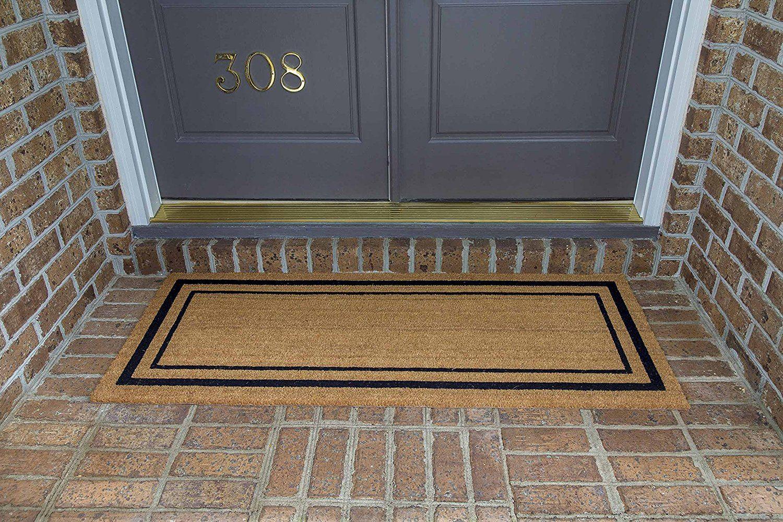 Amazon Com Decoir 24 Quot X 60 Quot 39 Classic Border 39 Large Coir Double Door Mat Patio Lawn Amp Door Mat Contemporary Door Mats Front Door Mats