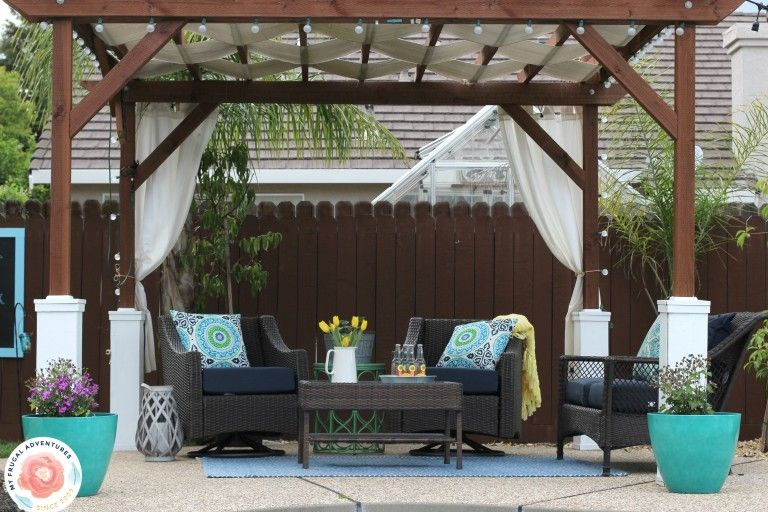Basic, cheap, and easy DIY Pergola - How To Build A Pergola Diy Pergola, Pergolas And Backyard