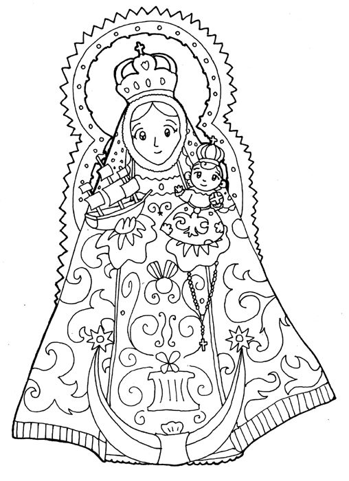 Our Lady of Consolation Coloring Page- The patron saint of