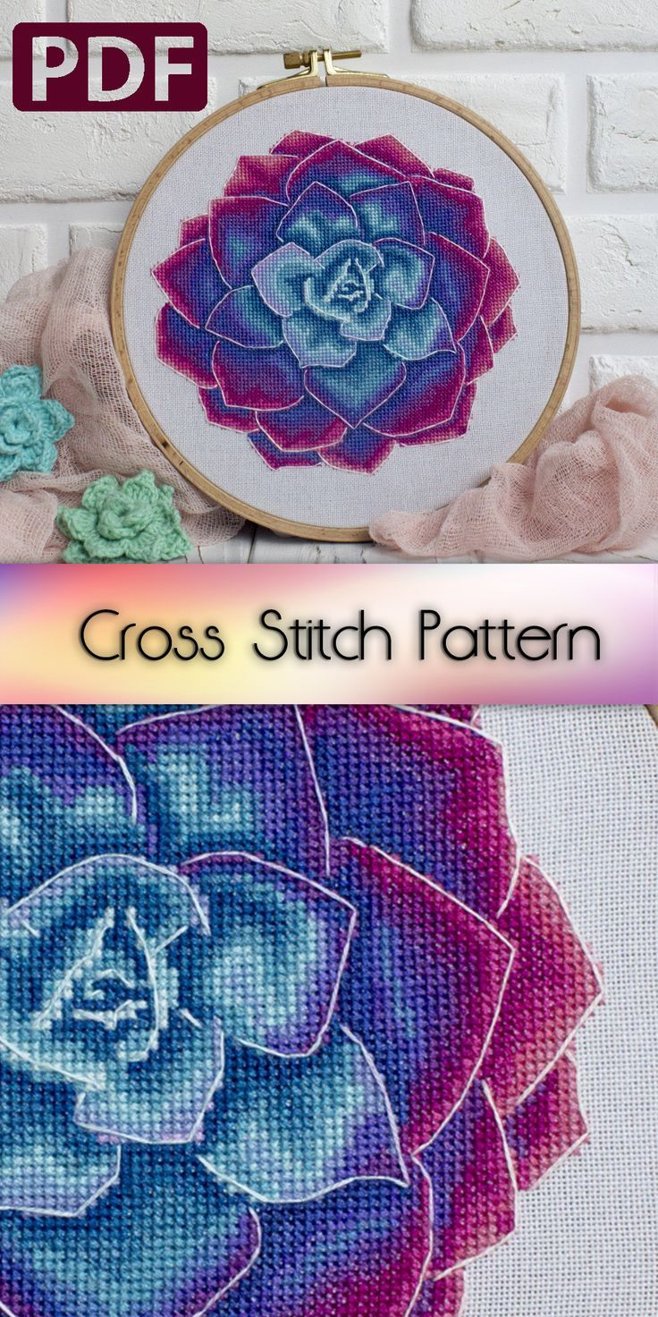 Photo of Floral Cross Stitch Pattern