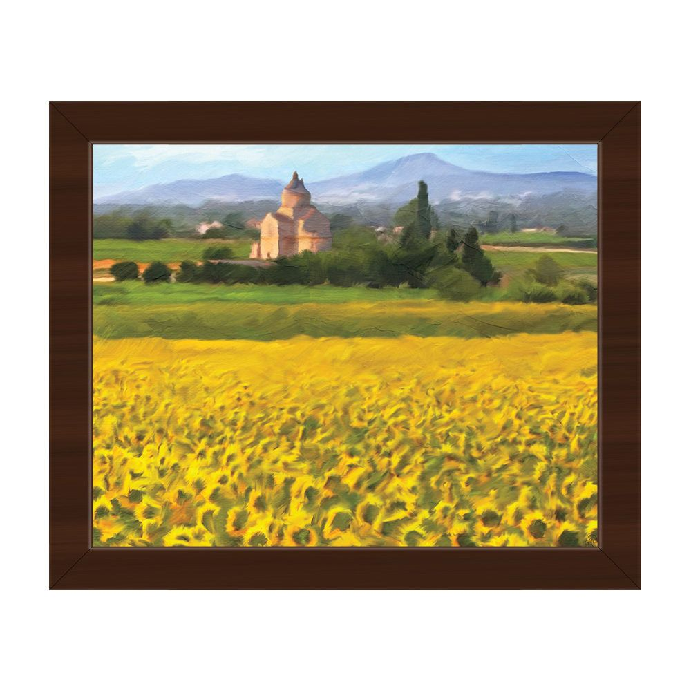 Horizon Provence Sunflowers Framed Canvas Wall Art Print | Products ...