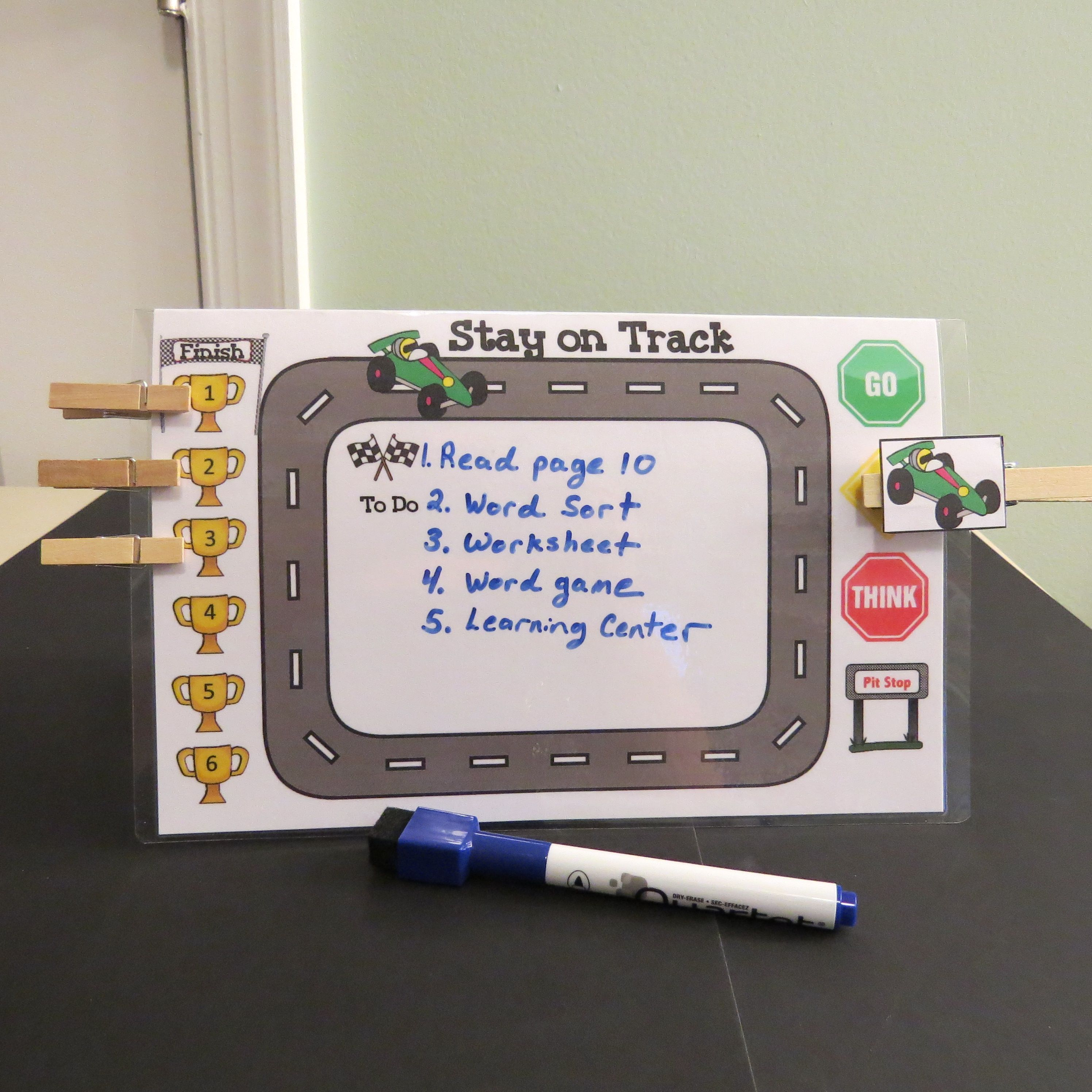 Help Kids Stay On Task With This Clip It Chart
