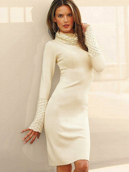 Turtleneck Sweaterdress - Victoria's Secret. With boots, maybe ...