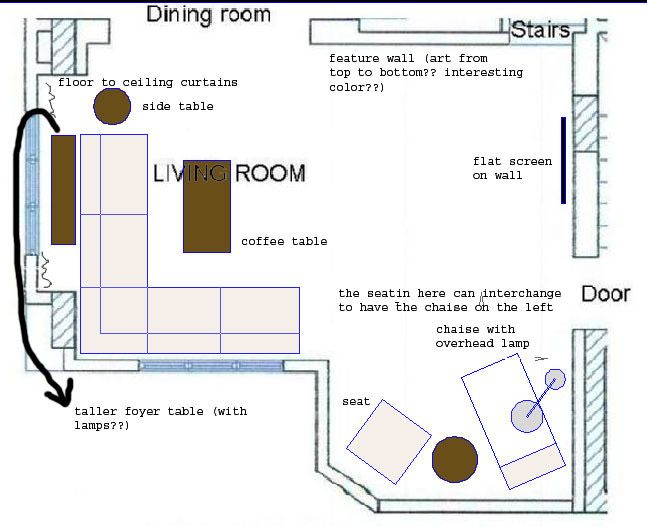 View Post - How do you arrange furniture in L shaped living ...