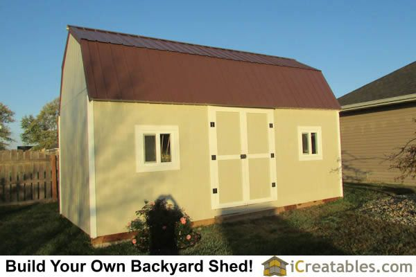 10x20 Gambrel Shed Completed Plans By Icreatables Com Owners