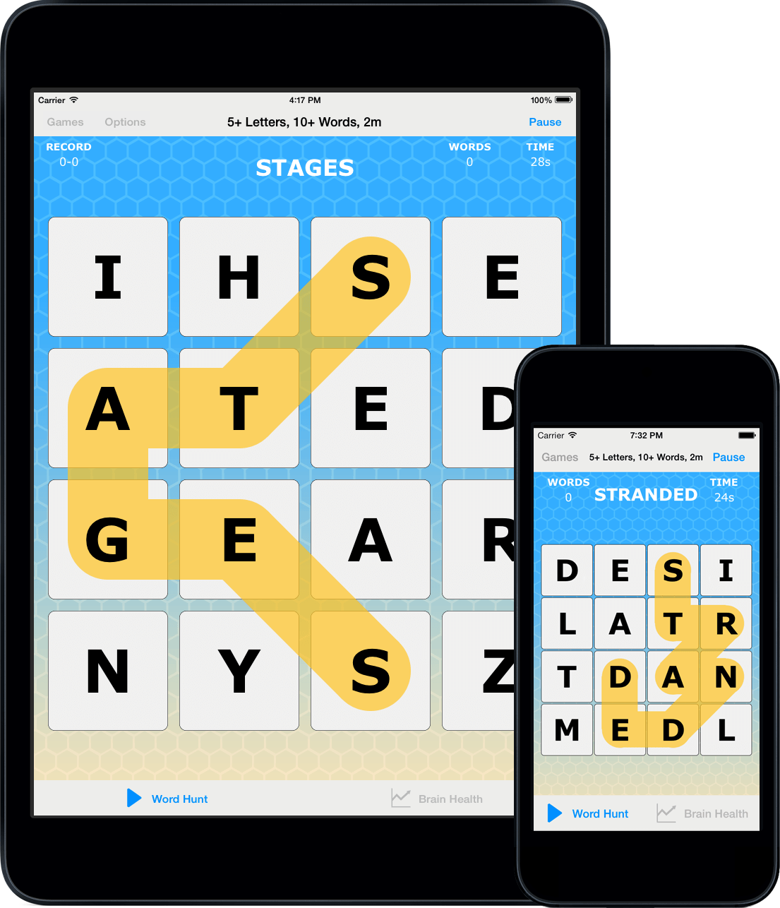 Acuity Games Word Hunt Trace Adjacent Letters To Form Words Of