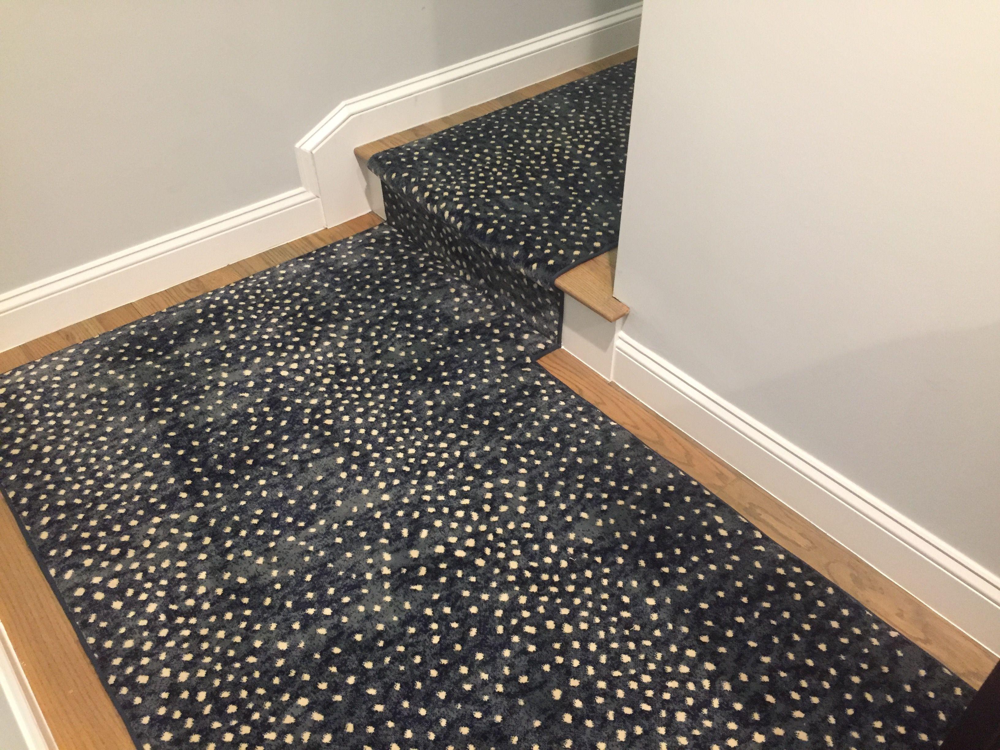 Mill Prestige Style Derning Color Blue Animal Print Stair Runner Stair Runner Stair Runner Carpet
