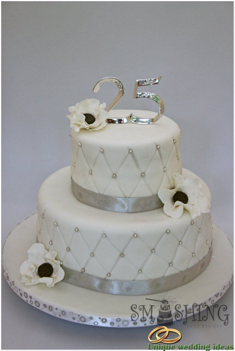 Simple 25th Anniversary Cake 25 Wedding Anniversary Gifts With