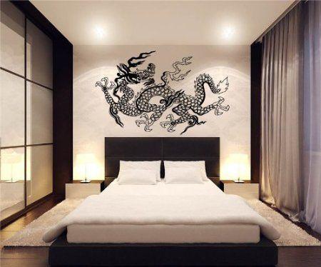 japanese dragon wall decor vinyl decal sticker d-39: home & kitchen