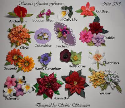Selma's Stamping Corner and Floral Designs: Susan's Garden New Flower Dies