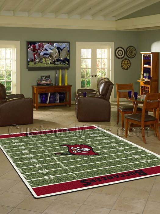 Custom-Mats by Gallant | Custom Mats - Tampa Bay - Tampa Bay Buccaneers NFL Home Field Rug -
