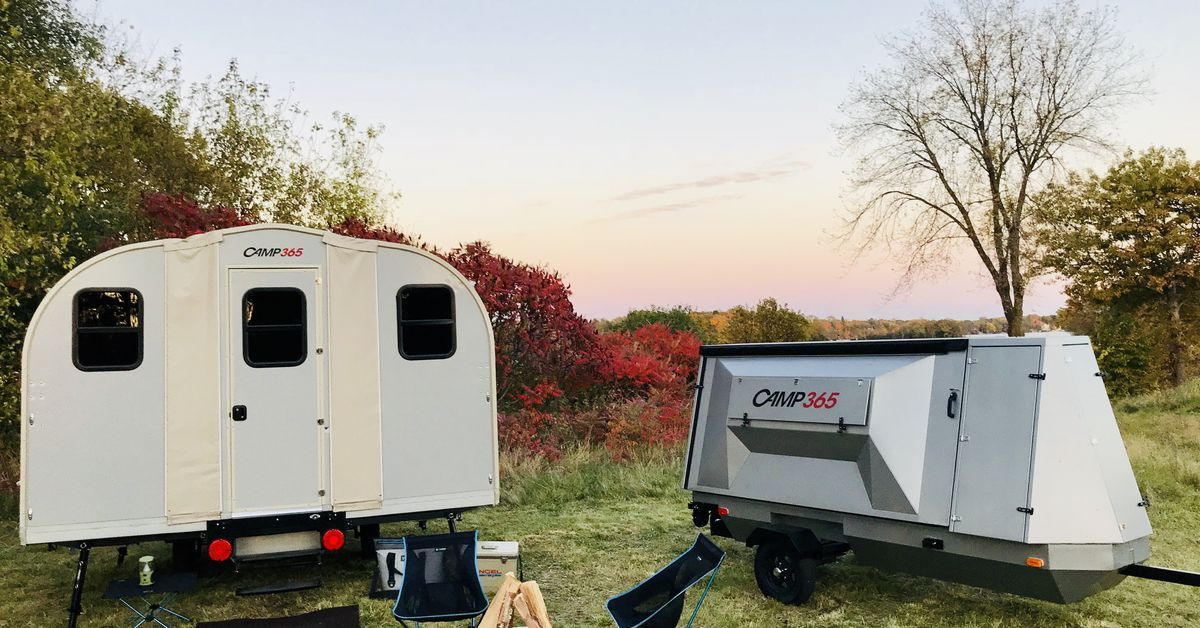 Tiny Trailer Unfolds Into A 100 Square Foot Cabin Camping